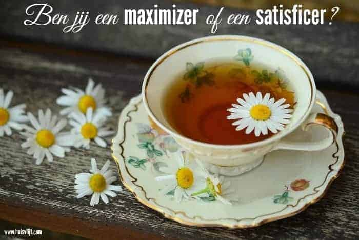 maximizer of satisficer
