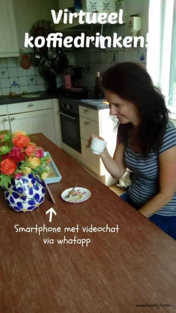 virtueel koffiedrinken